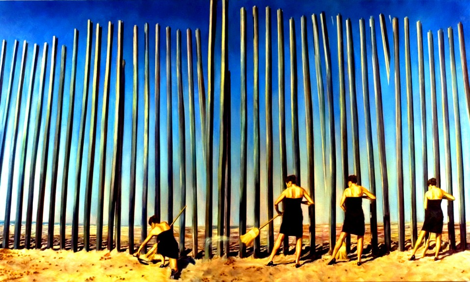 Untitled (Performance documentation at San Diego/Tijuana border)