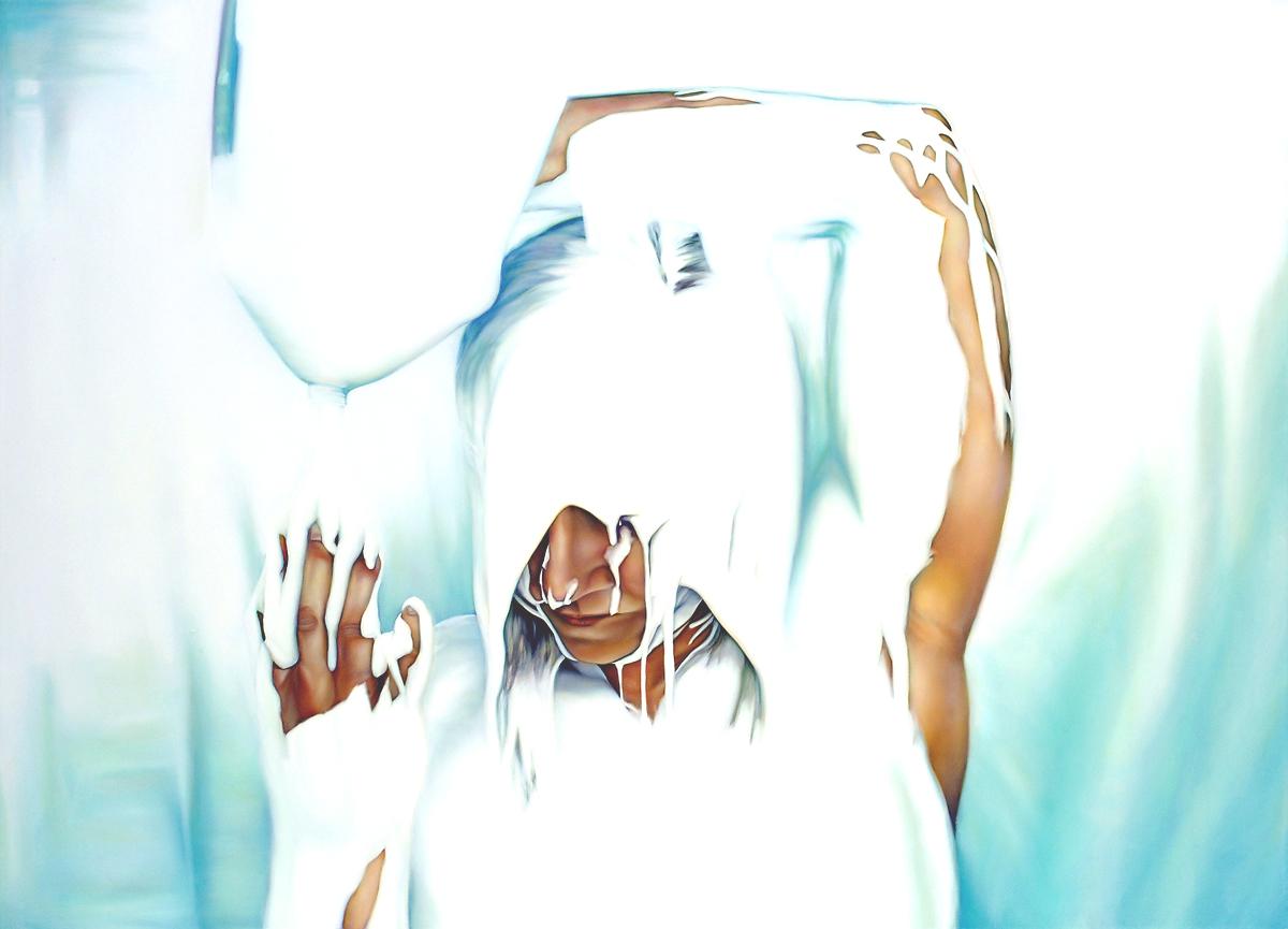 Untitled (Documentation of Jennifer Locke's Glue Performance)